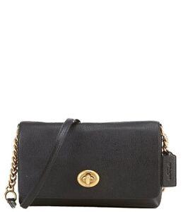 Coach Crosstown Black W/Gold Hdw Grain Leather Crossbody Bag. NWT!!!