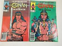 1985-1986 CONAN THE DESTROYER COMIC BOOKS TWO-ISSUE LIMITED SERIES #1 AND #2