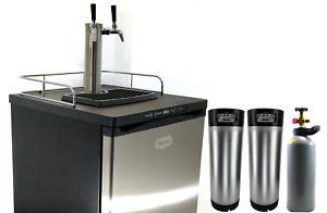 Kegmaster Series X Kegerator Double Tap PREMIUM BUNDLE 2x Taps with 2 New Kegs,