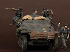 1/35 Escala resina Figura MODELO CONJUNTO Segunda Guerra Mundial German blindado tropas (4 Figuras)