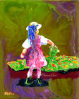 Original Abstract Acrylic Painting Child Gardener (ii) 8x10in 2000-Now, Artist