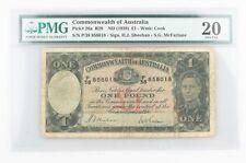 1938 Australia 1 Pound Banknote Graded by Pmg Vf-20 P#26a