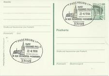 Papstbesuch Papst Johannes Paul II. – Postkarte SSt Paderborn 22.6.1996