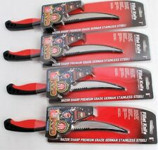 Lot of 4 Mustad Kvd Stainless Steel Fillet Knives, Sheaths, Wholesale, New