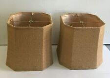 2 Contemporary Dark Brown Shades (Lamps Not Included) C1