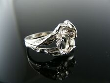 5658 Ring Setting Sterling Silver, Size 8, 8x6 Mm Oval Stone