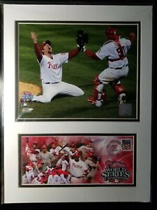 Philadelphia Phillies 2008 World Series Matted Photos Issued By Post Office