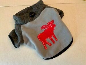 """Moose"" Vest, XS Dog  Fleece Jacket, Used by Martha Stewart, EUC"