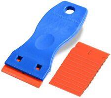 "1.5"" High Visibility Mini Razor Plastic Double Edged Blade Scraper with 10PCS Pl"