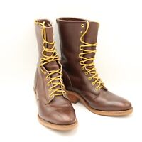 Justin Brown Chippewa Vibram Sole Lace Up Boots Mens 9 D