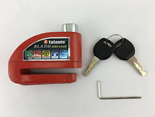 Motorcycle Anti-theft Alarm Lock Wheel Disc Brake Lock Red for Scooter Security