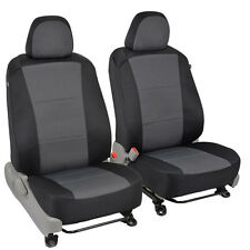 Custom Seat Covers for Toyota Camry 2014 Black/Charcoal Gray Cloth Car Auto Set