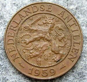 NETHERLANDS ANTILLES JULIANA 1959 2-1/2 CENTS, BRONZE