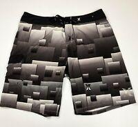 Hurley Mens Black White Grey Boardshorts Surf Boardies Estimated Size 38