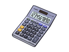 Casio Ms100ter Desktop Calculator Battery/solar Power 10 DIGIT Tax Key
