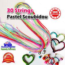 30pc Strings Pastel Scoubidou Scoobie Scooby Fashion PVC Knit Craft Colour Art