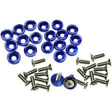 20pcs Blue Billet Aluminum Fender/Bumper Washer/Bolt Engine Bay Dress Up Kit