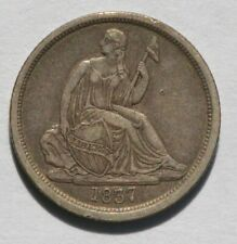 1837 Liberty Seated Dime - Var 1 No Stars - Unslabbed, Ungraded - Extremely Fine