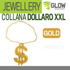 COLLANA DOLLARO XXL carnevale accessori costumi hip hop rapper eminem 900119