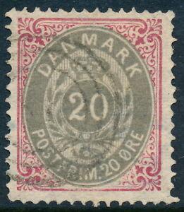 Denmark Scott 31/AFA 28, 20 øre rose-red/gray Bicolour, sound VF used