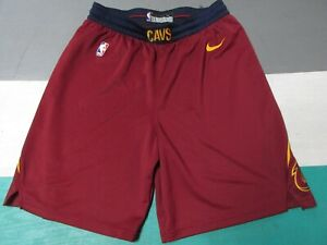 Cleveland Cavaliers Swingman Nike Shorts Size 42 Men's XL Wine Navy Blue Yellow