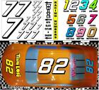 WHITE  (#7's) Racing Numbers Decal Sticker Sheet 1/8 - 1/10 -1/12 RC RJ Speed