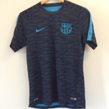 FC BARCELONA TRAINING SHIRT - NIKE - DARK BLUE camouflage print -  SIZE MEDIUM