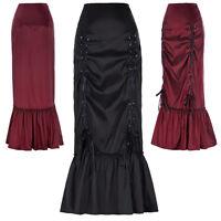 Mermaid Long Skirts Womens Lady Retro Gothic Victorian Fishtail Skirt Steampunk