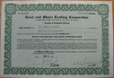 'Bond & Share Trading Corporation' 1936 Stock Certificate - Nevada NV