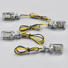4x 6 LED Amber Mini Motorcycle Turn Signal Blinker Indicator Light Universal J25