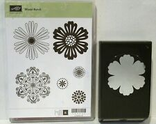 Stampin Up MIXED BUNCH clear mount stamps & BLOSSOM Punch flower