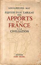 ESQUISSE D'UN TABLEAU DES APPORTS DE LA FRANCE... / L.P. MAY / Ref 50245