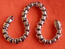 """David Yurman Sterling Silver X-Large 7mm Box Chain Men's Bracelet 9"""""""