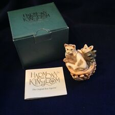 Harmony Kingdom 'Cat Naps Meow' TJMINEVE3 (signed box figurine 2000 event) NEW