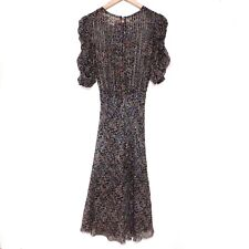 ISABEL MARANT for H&M - Iconic Silk Peacock Dress - Sz 34 - NWOT