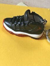 New Mini 3D AIR JORDAN sneaker shoes keychain Hand-painted. Black/White/Red