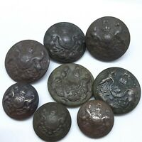 Original WWI WW1 Great Britain Buttons Military Uniform