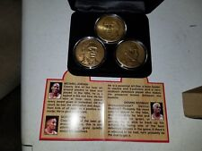Chicago Bulls Bronze Championship 3 Coin Highland Mint Set