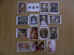 15  X  ROYALTY  POST CARDS  10.5cm X 15cm  - IN VERY GOOD CONDITION - SEE PHOTOS