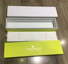 NEW AUTHENTIC CHAMILIA BRACELET / NECKLACE GREEN LONG RECTANGULAR GIFT BOX