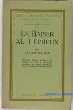 Le Baiser au Lépreux François Mauriac 1922 EO