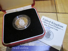 1988 Royal Mint Silver Proof PIEDFORT £1 One Pound Coin Royal Shield  BOX/COA