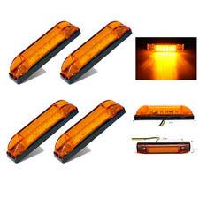 "4x Universal 4"" Amber LED Waterproof Utility Strip Light 6LED Side Marker Light"