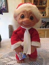 "1979 GIANT EURO CHRISTMAS HENRY BOY w HANG TAG BROCHURE -  17"" Dam Troll Doll"