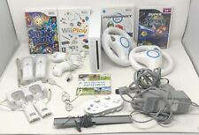 Nintendo Wii Bundle-Console,5 Games,2 Steering Wheels,2 Controllers + More