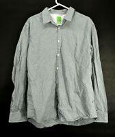 Hugo Boss Men XXL 2XL Modern Fit Long Sleeve Button Up Dress Shirt Black