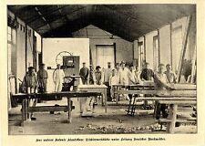 Kolonie Kiautschau: Tischlerwerkstätte unter Leitung Deutscher Werkmeister 1902