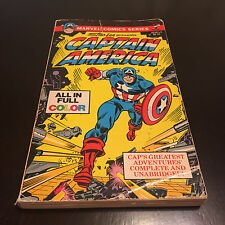 MARVEL COMICS STAN LEE PRESENTS CAPTAIN AMERICA PAPERBACK IN FULL COLOR
