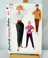 Vtg Simplicity Sewing Pattern Number 4464 Pants and Blouses Size 15 1953 UNCUT