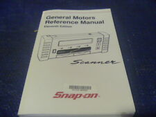 New Snap on General Motors Reference Manual Scanner 11th Edition 2001
